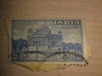 **GOLDEN TEMPLE AMRITSAR STAMP**FROM 1949**INDIA POSTAGE**