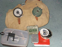 Fly fishing bag with contents.