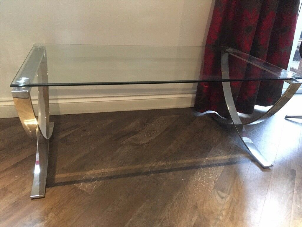 John Lewis Vienna Coffee Table Glass Top Hardly Used Excellent Condition In Exeter Devon Gumtree