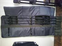 Grays prodigy 12ft 3.5tc carp rods x3/daiwa windcast br 5000 lda big pit reels x3 & mission holdall