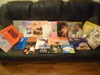 eighteen records (18 records 33 rpm)(4 records 45 rpm)with original covers,fantastic songs/musical..