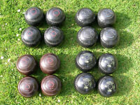 Lawn Bowls 4 sets of 4 bowls various makes/sizes (all 4 sets for bargain £50)