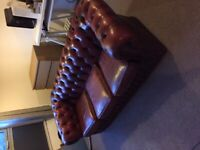 Chesterfield Sofa Red leather