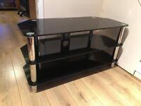 HEAVY DUTY LARGE GLASS TV STAND! BARGAIN!