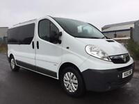 2012 Vauxhall Vivaro 2900 CDTI S-A LWB factory 9 seater minibus 59,000 miles Trafic traffic no vat