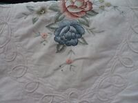 Single 100% Cotton Bedspread And Matching Pillow Sham