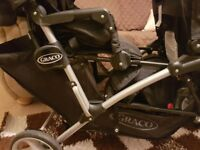 Graco used duo double pushchair