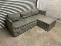 FREE DELIVERY IKEA BRATHULT GREY CORNER SOFA BED WITH STORAGE GREAT CONDITION