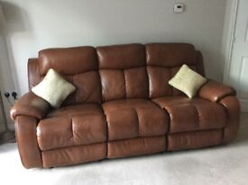 2 Leather Sofas Immaculate