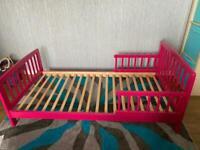 Kids bed - Frame + Mattress - Pink
