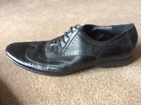 Michael Alexander Men's black leather shoes lace up size 10 work shoes / smart