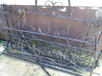 FREE OLD WROUGHT IRON GATES DISMANTLED FOR SCRAP