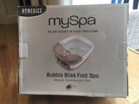 Myspa bubble bliss foot spa