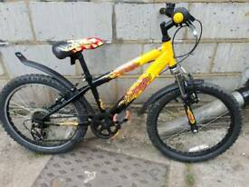 Child's mountain bike 20inch wheels front suspention & Gears