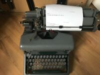 1950's Imperial 66 Green Vintage Typewriter with cover (original) - this one still functions