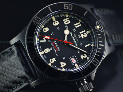 NEW GLYCINE 42MM COMBAT SUB SWISS AUTOMATIC SAPPHIRE DIVER WATCH, GL0244, 3908 Diver Swiss Made Watch
