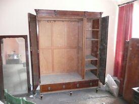 Old three door wardrobe