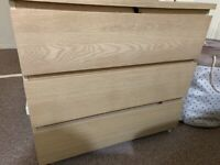 drawers chest & 2 bedside cabinets