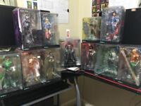 11 Kotobukiya DC Figures. Batman, Superman, Green Arrow, Catwoman etc