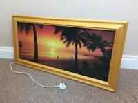 Large picture that lights up and makes sound of birds and gives Sea is moving