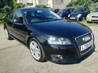 2008/58 Audi A3 Tdi Sportback, black, 89k, FSH, new MOT, excellent throughout, 3 months warranty