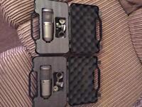 Stagg Condenser microphones x 2 brand new