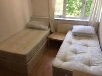 Large twin room to rent on old Kent road Se1
