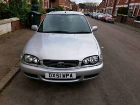 TOYOTA COROLLA WITH FULL SERVICE HISTORY AND LONG MOT VERY LOW MILEAGE 87000
