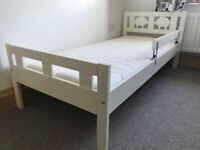 Ikea toddler bed in white