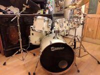 Premier APK Cabria 6-piece drumkit + Zildjian Planet Z cymbals + stool, sticks, new Remo heads.