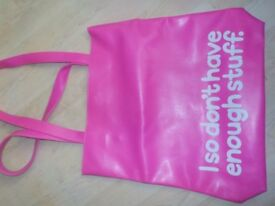 Bright Pink Shopping Bag - Collect PE27