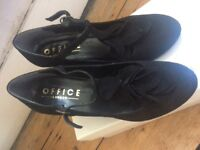 Office black suede shoes size 38