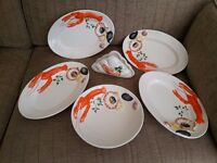Decorative serving dishes and bowl