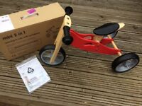 Nicko Mini 2 in 1 wooden balance bike