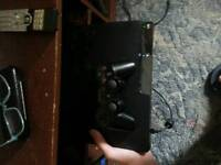 PS3 500GB slim console with all wires, controller and 15 games