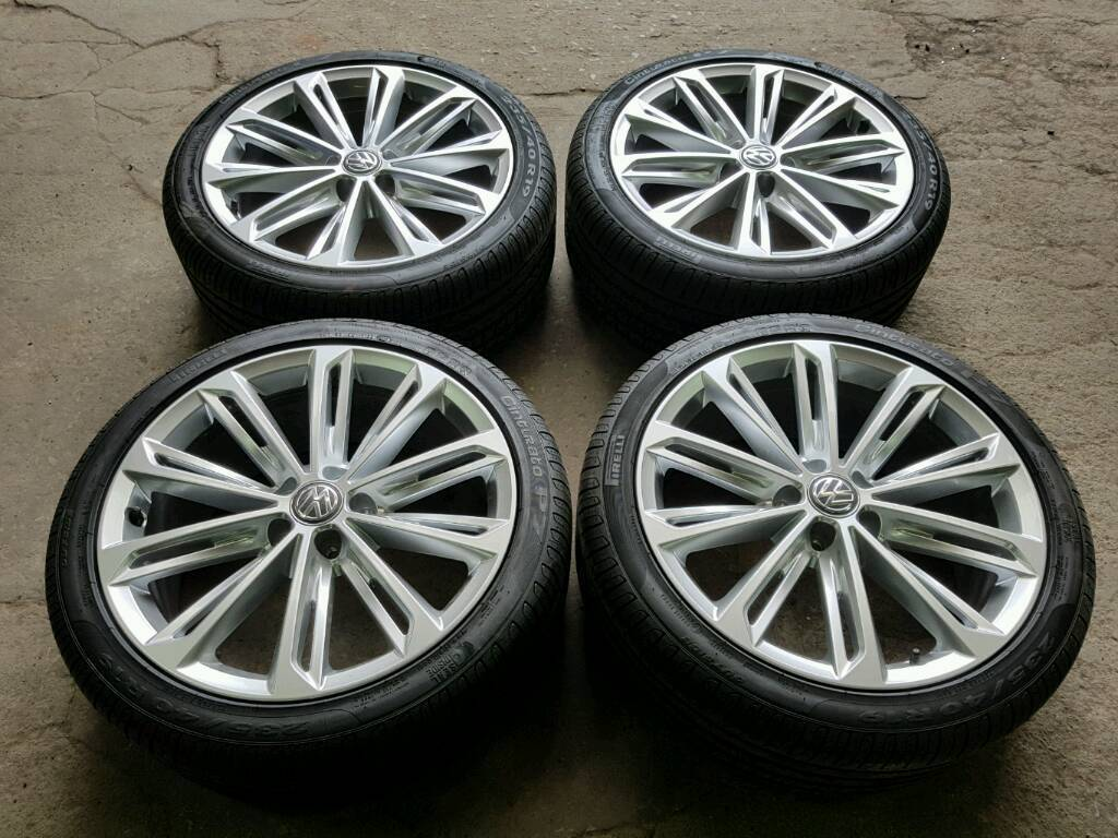 Genuine Vw 19 Quot Verona Alloy Wheels Amp Pirelli Tyres New