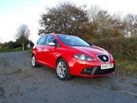 Seat Altea FR TFSI 200 bhp with DSG auto gearbox. 73k miles. Super rare family-friendly hot hatch