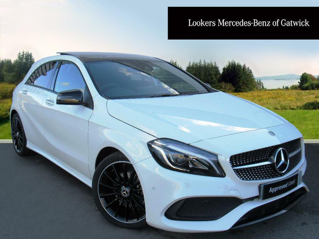 mercedes benz a class a 200 d amg line premium plus white 2017 10 31 in crawley west sussex. Black Bedroom Furniture Sets. Home Design Ideas