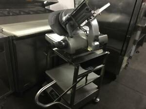 28 inch Hobart meat slicer with heavy duty stand model 2812 like new only $1995!