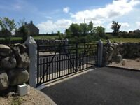 Silver Grey Granite Gatepost