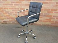 FABULOUS RETRO DESIGNER SWIVEL RISE & FALL CHROME OFFICE CHAIR MODERN HOME STUDY DECOR USE