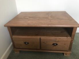 Lovely wooden Coffee Table/TV Stand with cup handle drawers.