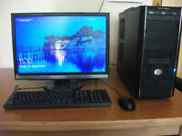 DESKTOP PC WITH ASUS MONITOR KEYBOARD AND MOUSE INTEL i5 WINDOWS 10 PRO