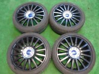 "FORD ST220 FOCUS, MONDEO, S-MAX, TRANSIT CONNECT 18"" ALLOY WHEELS BLACK"