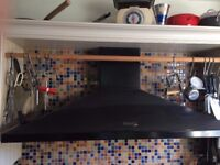 Rangemaster cooker hood - black - for use with 110cm wide range cooker