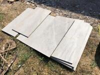 FREE 10x Grey ceramic floor/wall tiles of various widths