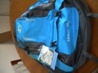 Large blue backpack.