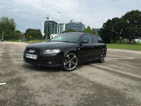 2008 Black Audi A4 Avant Estate S-Line 2.0TDI 170bhp, Sat Nav, Full Leather