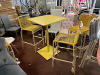 Habitat Ipanema 2 Seater Bar Bistro Set - Yellow