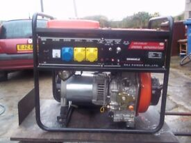 5.3kw diesel generator electric start and recoil start as new condition